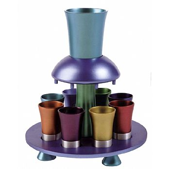 Anodized Aluminum Kiddush Fountain - Multi Color