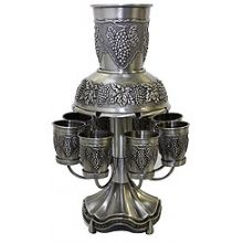 Pewter Kiddush Fountain - Grape