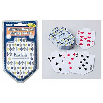 Dreidel Shaped Hanukkah Playing Cards