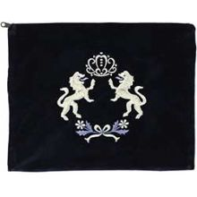 Tallit Bag with Lions of Judah - Navy Blue