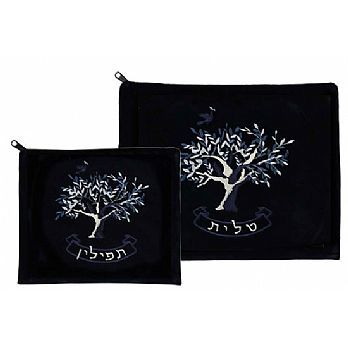 Luxurious Velvet Tallit/Tefilin Bags - Tree of Life