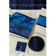 Wool/Silk Tallit Set - Jerusalem