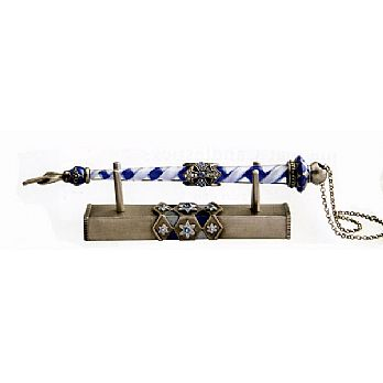 Glass & Gemstone Yad with Matching Stand