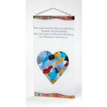 Fused Glass Wall Decor - Heart Fusion Home Blessing