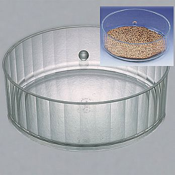 Lucite Round Matzah Box  with Cover