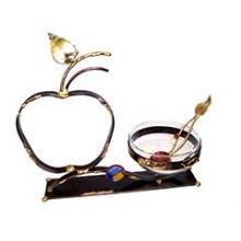 Gary Rosenthal Sculptured Apple Honey Dish