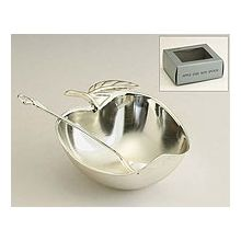 Silver Plated Apple Shaped Honey Dish