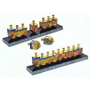 Masterpiece Dreidel Menorah by Emanuel