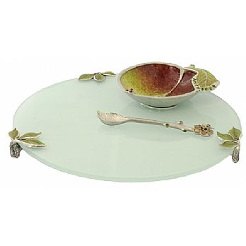 Honey Server Set with Glass Tray