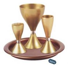 Anodized Aluminum Havdallah Set - Gold