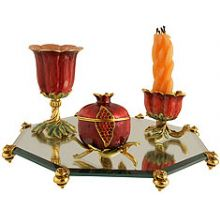 Exquisite Pomegranate Havdallah Set