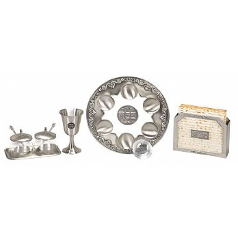 Complete Seder Set - Pewter Collection