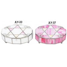 Stained Glass Oval Jewelry Boxes