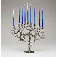 Pewter Art Menorah - Tree of Life