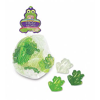 Frog Ice Cubes - Reusable in Sack 20 Pieces