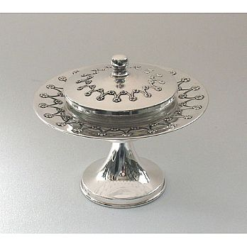 Sterling Silver Honey Dish - Floral