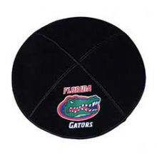 FLorida Gators Kippah - Genuine Black Suede
