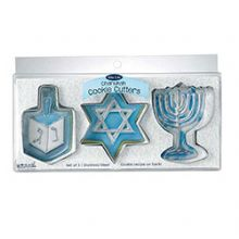 Hanukkah Shapes Metal Cookie Cutters