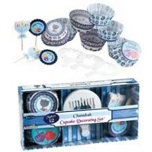 Hanukkah Cup-Cake Decorating Kit - 12 Sets