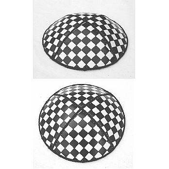 Leather Checker/Chess-Board Kippot