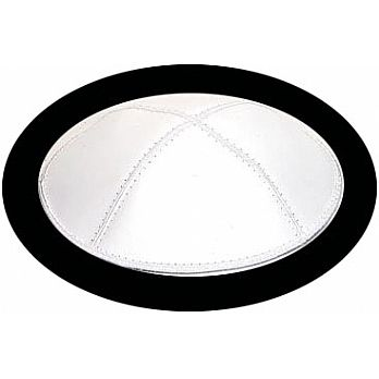 White Genuine Leather Kippah