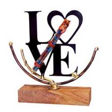 "Gary Rosenthal Large Lasercut ""Love"" Sculpture"