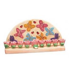 Rosebud and Butterfly Menorah