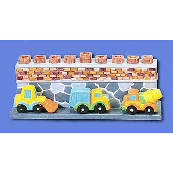 Ceramic Construction Theme Menorah