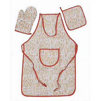 Fabric Passover Hostess Set - Matzah Pattern