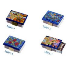 Petite Wooden Match Boxes Painted by Yair Emanuel