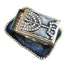 Jeweled Match Box Collection - Menorah