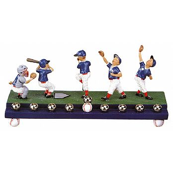 Baseball Players Collectible Menorah