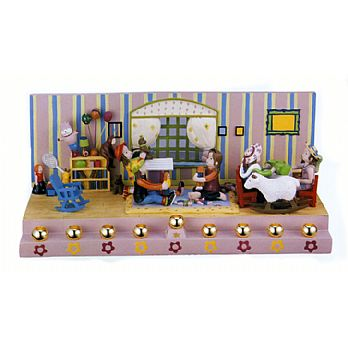 Sculptured Resin Menorah - The Girls Room