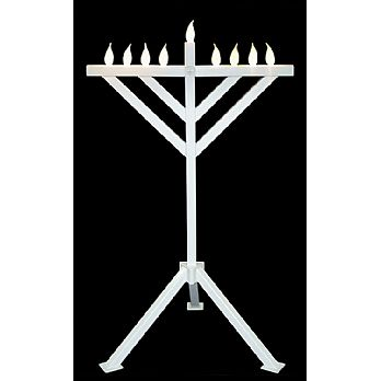 PVC Indoor / Outdoor Menorah - 52'' Tall