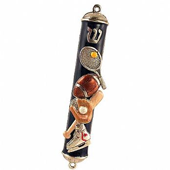 Assorted Sports Mezuzah