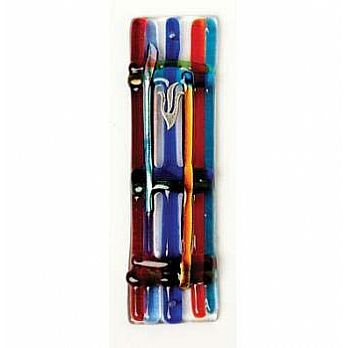 Fused Glass Mezuzah Cover - Jacob's Ladder