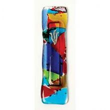 Fused Glass Mezuzah Cover - Rainbow Fusion