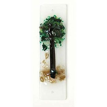 Fused Glass Mezuzah Cover - Tree of Life