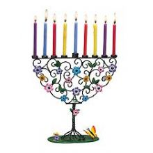 Flowering Tree of Life Menorah