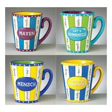 Yiddish Mugs with Everyday Expressions