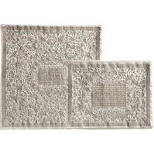 Fully Embroidered Matzah & Afikoment Bag by Emanuel - Silver