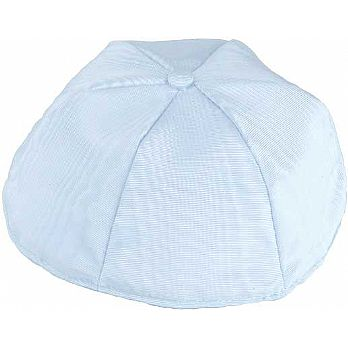 Moire Lined Kippot - Light Blue