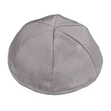 Moire Lined Kippot - Grey
