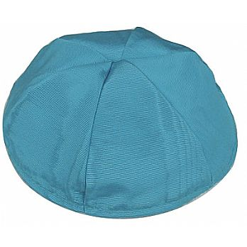 Moire Lined Kippot - Turquoise