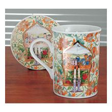 Coffe Mug with Coaster - Jerusalem Candles