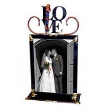 Gary Rosenthal Love Wedding Frame with Shards Tube