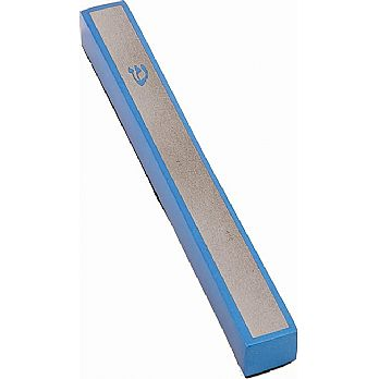 Sleek Aluminum Mezuzah Cover by Emanuel - Blue