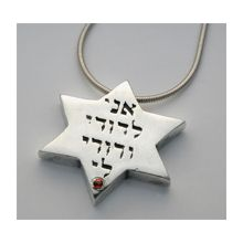 Silver Star of David Pendant - Ani Ledodi