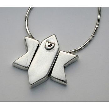 Three-Piece Star of David & Mezuzah Necklace