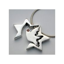 3 Piece Silver Star of David Necklace � Flying